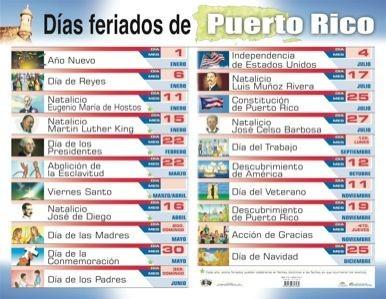 Feriados 2018 Puerto Rico Actual Pinterest • the World's Catalog Of Ideas