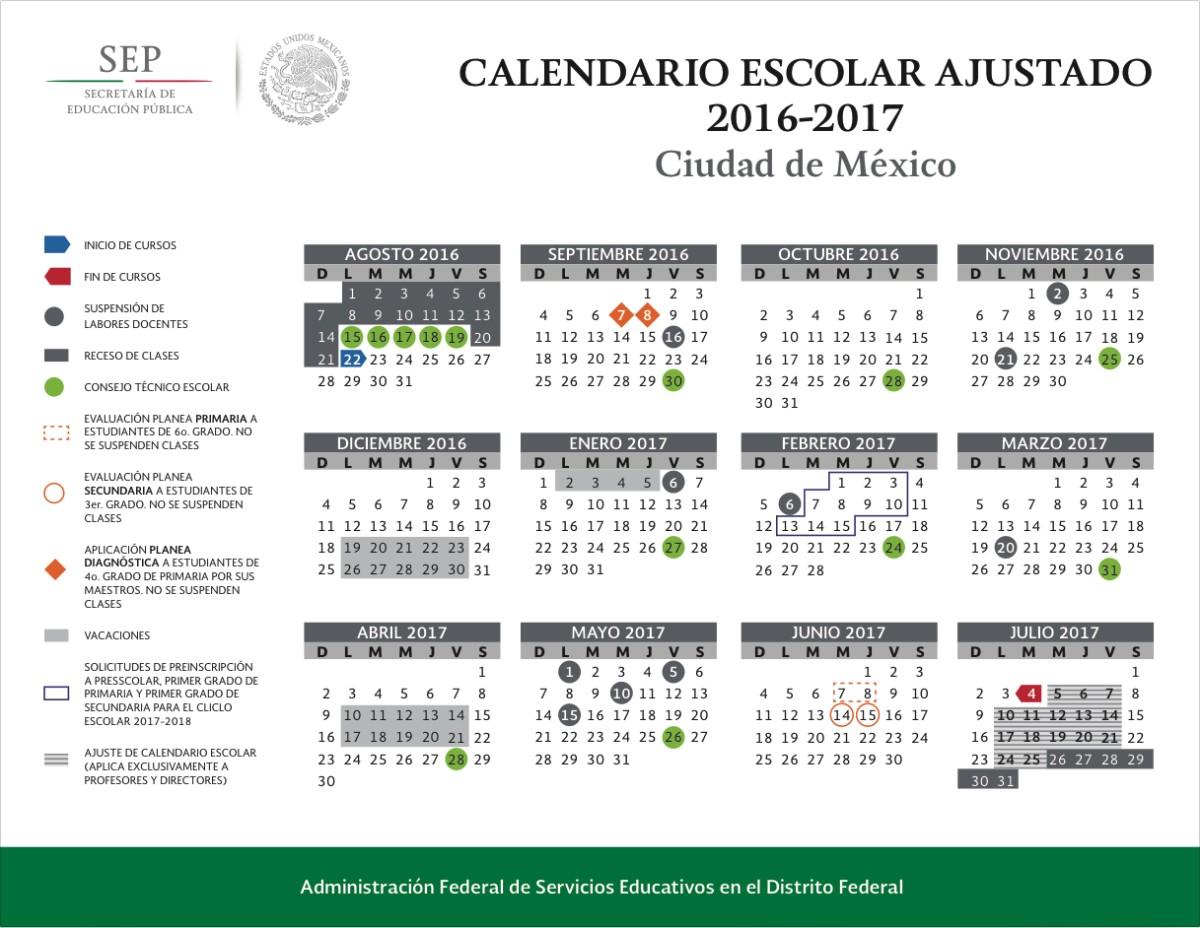 calendario oficial de la sep