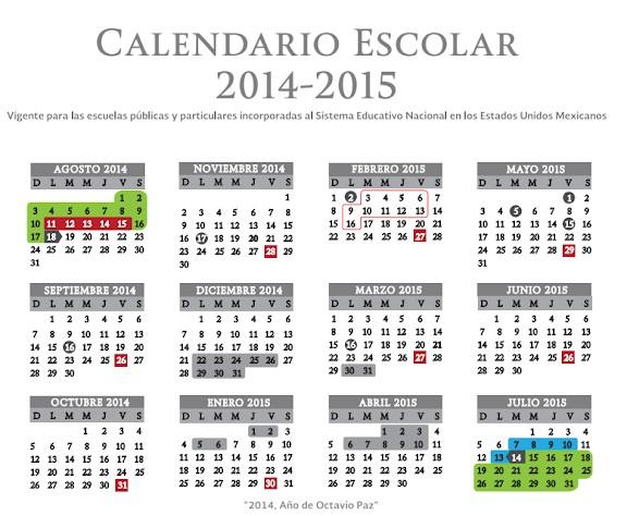 calendario escolar 2014 de la sep TKdAobBao